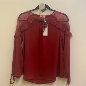 BLOOMING JELLY NEW WINE COLOR BLOUSE (S)